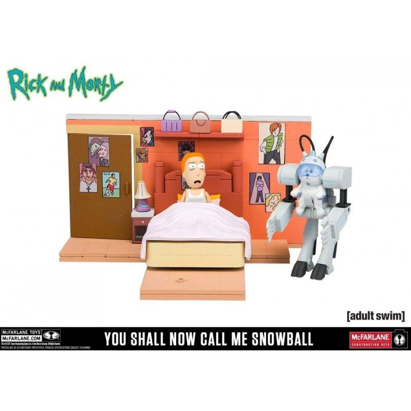 RICK AND MORTY - SNOWBALL CONSTRUCTION SET 20 CM ACTION FIGURE