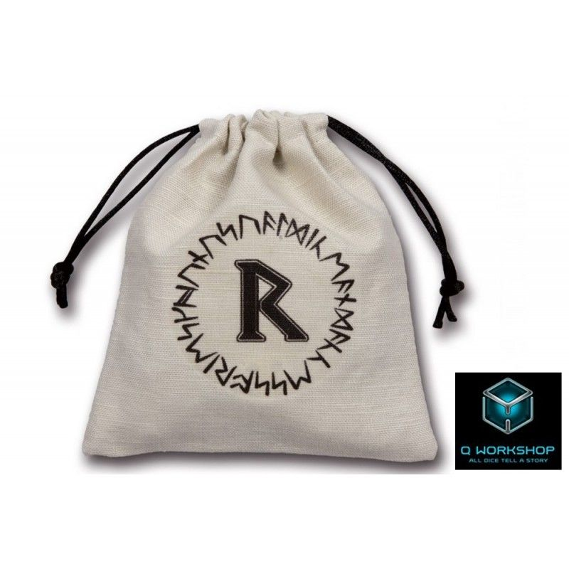 SACCHETTINO PER DADI RUNIC BEIGE DICE BAG Q WORKSHOP