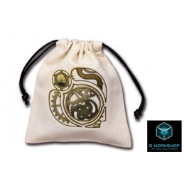 SACCHETTINO PER DADI STEAMPUNK BEIGE DICE BAG Q WORKSHOP