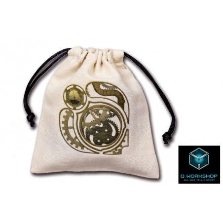 SACCHETTINO PER DADI STEAMPUNK BEIGE DICE BAG