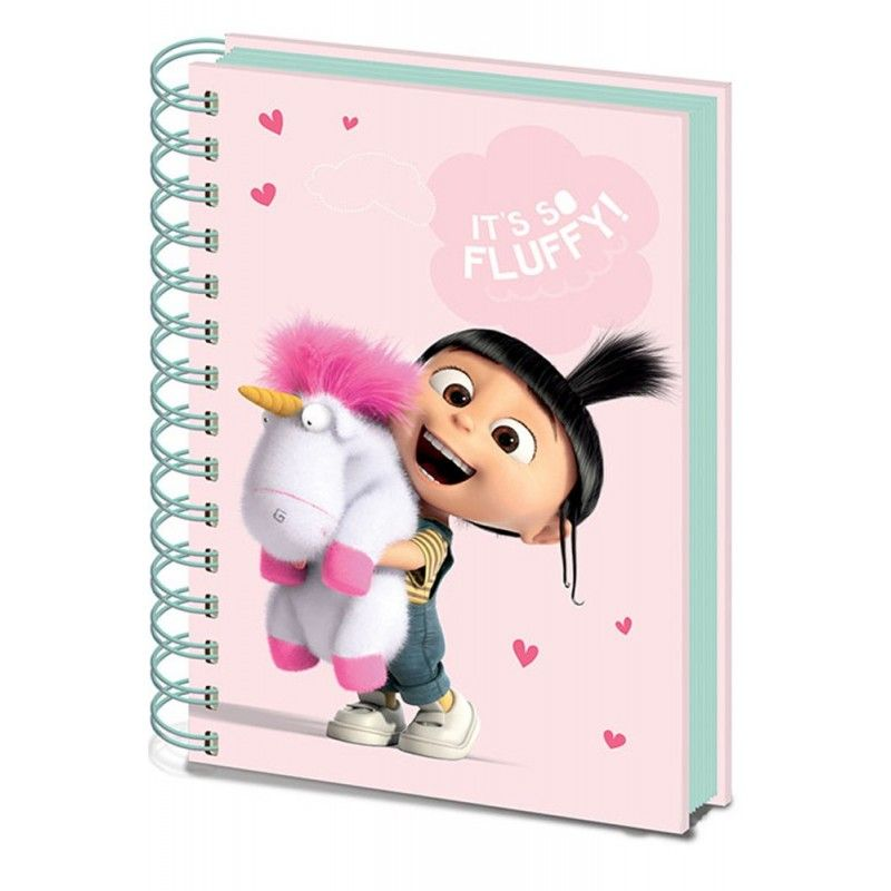 PYRAMID INTERNATIONAL CATTIVISSIMO ME 3 SO FLUFFY NOTEBOOK DIARIO