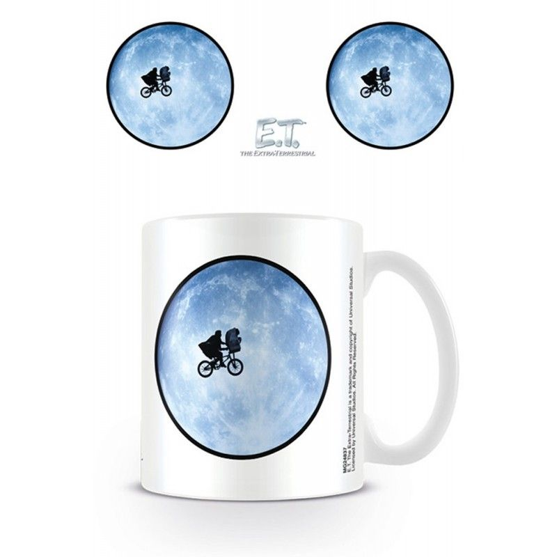 PYRAMID INTERNATIONAL E.T. THE EXTRATERRESTRIAL MOON CERAMIC MUG TAZZA