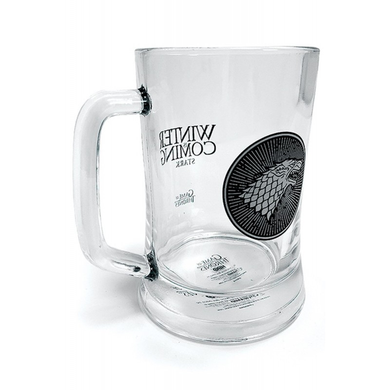 GAME OF THRONES STARK GLASS STEINS BICCHIERE DI VETRO PYRAMID INTERNATIONAL