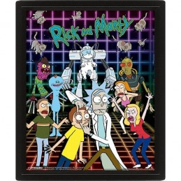 RICK AND MORTY CHARACTERS LENTICULAR 3D POSTER 25X20CM PYRAMID INTERNATIONAL