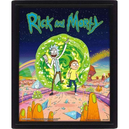 RICK AND MORTY PORTAL LENTICULAR 3D POSTER 25X20CM