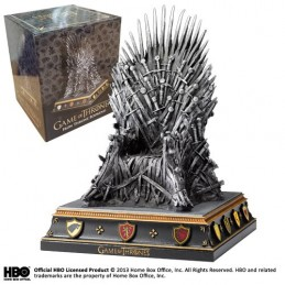 NOBLE COLLECTIONS GAME OF THRONES - IRON THRONE BOOKEND REPLICA