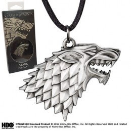 NOBLE COLLECTIONS GAME OF THRONES - STARK PENDANT CIONDOLO IN METALLO