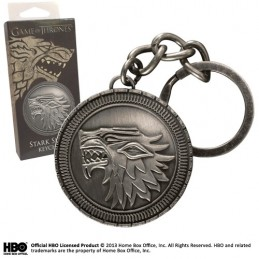 NOBLE COLLECTIONS GAME OF THRONES STARK SHIELD METAL KEYCHAIN PORTACHIAVI KEYRING