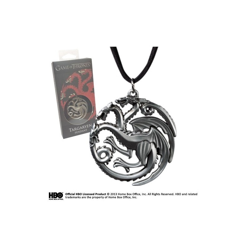 GAME OF THRONES - TARGARYEN PENDANT CIONDOLO IN METALLO NOBLE COLLECTION