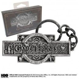 GAME OF THRONES LOGO METAL KEYCHAIN PORTACHIAVI KEYRING NOBLE COLLECTIONS