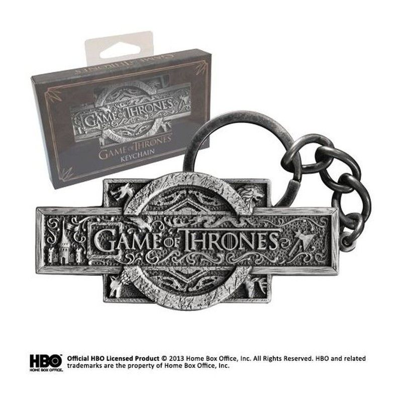 NOBLE COLLECTIONS GAME OF THRONES LOGO METAL KEYCHAIN PORTACHIAVI KEYRING