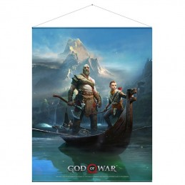 GOD OF WAR FATHER AND SON WALLSCROLL POSTER 100 X 77 CM