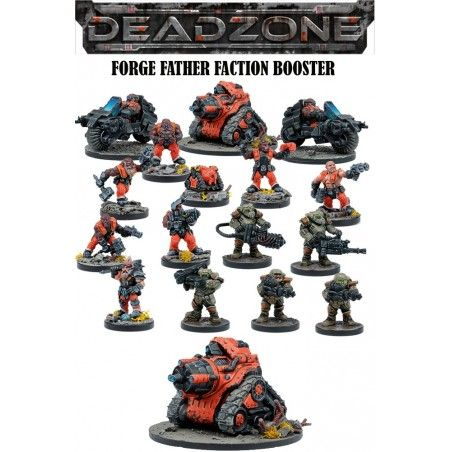 DEADZONE FORGE FATHER FACTION BOOSTER MINIATURE GIOCO DA TAVOLO