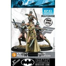 BATMAN MINIATURE GAME - AMAZONS OF THEMYSCIRA MINI RESIN STATUE FIGURE KNIGHT MODELS