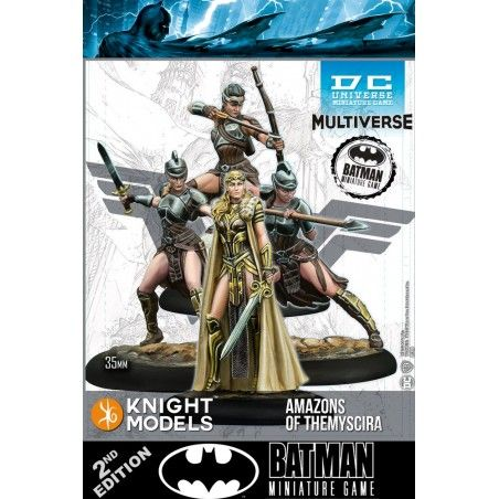 BATMAN MINIATURE GAME - AMAZONS OF THEMYSCIRA MINI RESIN STATUE FIGURE