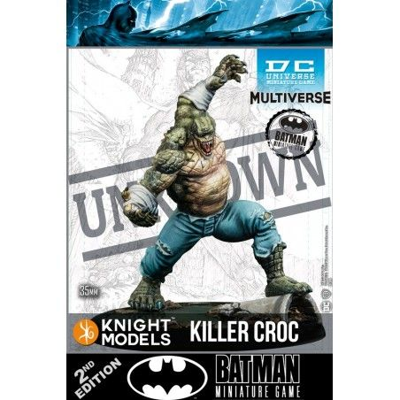 BATMAN MINIATURE GAME - KILLER CROC MINI RESIN STATUE FIGURE