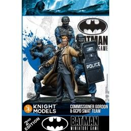 BATMAN MINIATURE GAME - GORDON AND SWAT MINI RESIN STATUE FIGURE KNIGHT MODELS