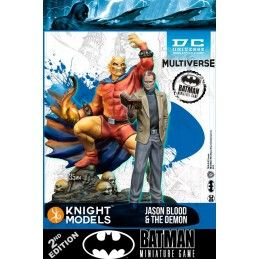 BATMAN MINIATURE GAME - JASON BLOOD AND DEMON MINI RESIN STATUE FIGURE KNIGHT MODELS