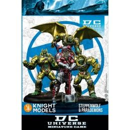 DC UNIVERSE MINIATURE GAME - STEPPENWOF AND PARADEMONS MINI RESIN STATUE FIGURE KNIGHT MODELS