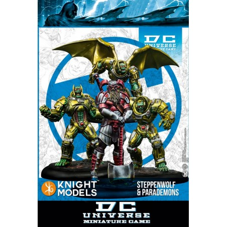 DC UNIVERSE MINIATURE GAME - STEPPENWOLF AND PARADEMONS MINI RESIN STATUE FIGURE