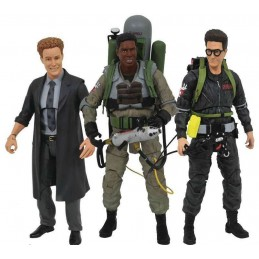 GHOSTBUSTERS SERIES 7 SET - EGON + WINSTON + POHA ACTION FIGURE DIAMOND SELECT