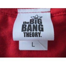 MAGLIA T SHIRT BIG BANG THEORY BAZINGA ROSSA