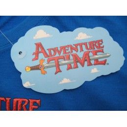 MAGLIA T SHIRT ADVENTURE TIME AMICI BLU