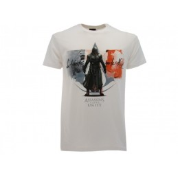 MAGLIA T SHIRT ASSASSINS CREED UNITY BANDIERA