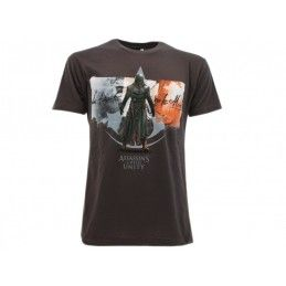 MAGLIA T SHIRT ASSASSIN'S CREED UNITY BANDIERA GRIGIA