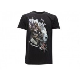 MAGLIA T SHIRT ASSASSIN'S CREED UNITY SPADA NERA