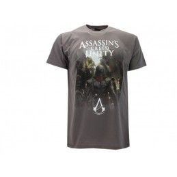 MAGLIA T SHIRT ASSASSIN'S CREED UNITY SPALLE GRIGIA