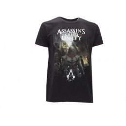 MAGLIA T SHIRT ASSASSIN'S CREED UNITY SPALLE NERA