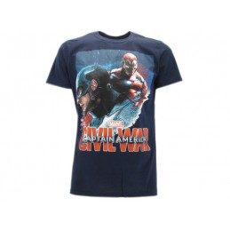 MAGLIA T SHIRT CAPTAIN AMERICA CIVIL WAR MARVEL AVENGERS BIANCA