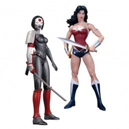 JUSTICE LEAGUE THE NEW 52 WONDER WOMAN VS KATANA ACTION FIGURE DC COLLECTIBLES