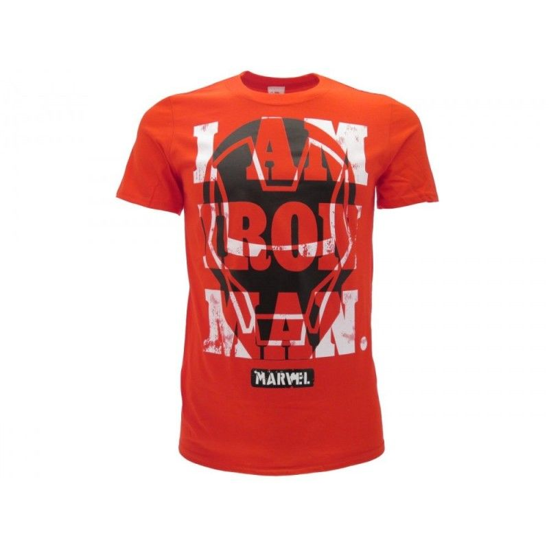 MAGLIA T SHIRT I AM IRON MAN MARVEL AVENGERS ROSSA