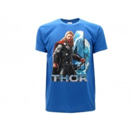 MAGLIA T SHIRT THOR MARVEL AVENGERS AGE OF ULTRON BLU