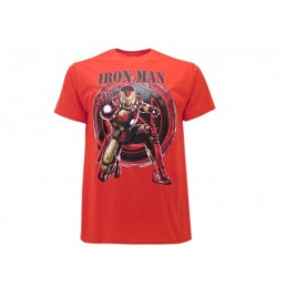 MAGLIA T SHIRT IRON MAN MARVEL AVENGERS AGE OF ULTRON ROSSA