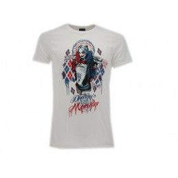 MAGLIA T SHIRT SUICIDE SQUAD HARLEY QUINN BIANCA
