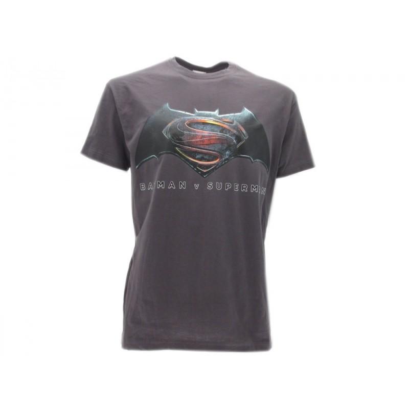 MAGLIA T SHIRT BATMAN V SUPERMAN GRIGIA