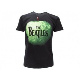 MAGLIA T SHIRT BEATLES APPLE NERA