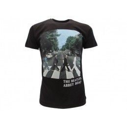 MAGLIA T SHIRT BEATLES ABBEY ROAD NERA