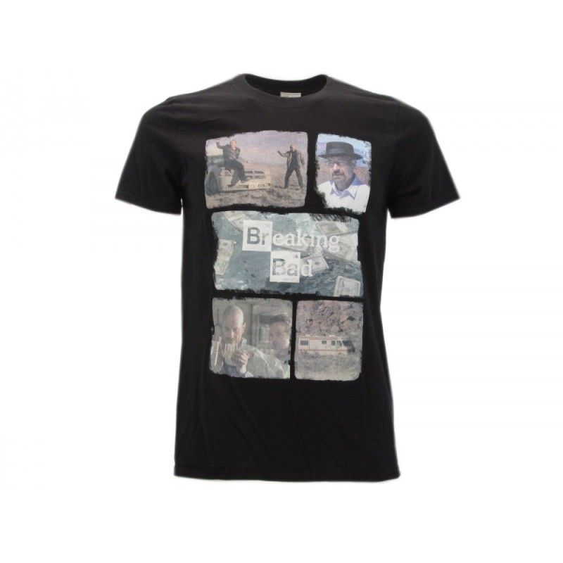 MAGLIA T SHIRT BREAKING BAD COLLAGE NERA