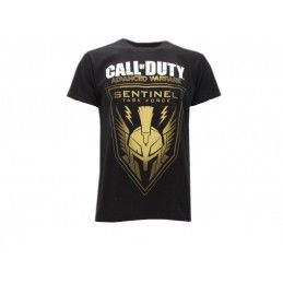 MAGLIA T SHIRT CALL OF DUTY ADVANCED WARFARE SENTINEL NERA
