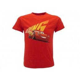 MAGLIA T SHIRT CARS MCQUEEN ROSSA
