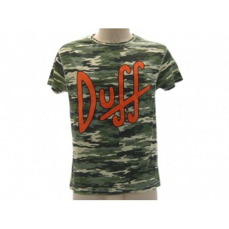 MAGLIA T SHIRT THE SIMPSONS DUFF BEER CAMO CAMOUFLAGE
