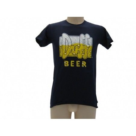 MAGLIA T SHIRT THE SIMPSONS DUFF BEER BOLLE BLU NAVY