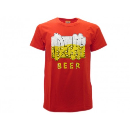 MAGLIA T SHIRT THE SIMPSONS DUFF BEER BOLLE ROSSA
