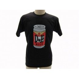 MAGLIA T SHIRT THE SIMPSONS DUFF BEER LATTINA NERA