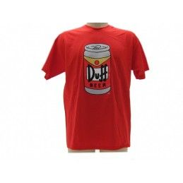 MAGLIA T SHIRT THE SIMPSONS DUFF BEER LATTINA ROSSA