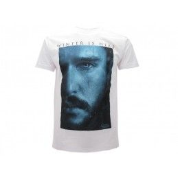 MAGLIA T SHIRT GAME OF THRONES JON SNOW WINTER BIANCA